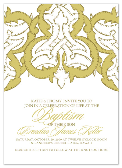 invitations - Ornate Scroll by SunnyJuly