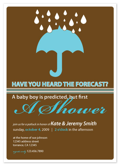 invitations - Have you heard the forecast? by Lauren Campbell