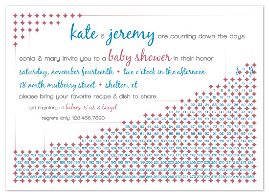 invitations - counting down the days circles by ardentGOODS