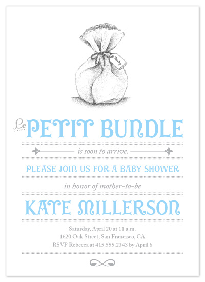 invitations - Le Petit Bundle by Brittany Burns