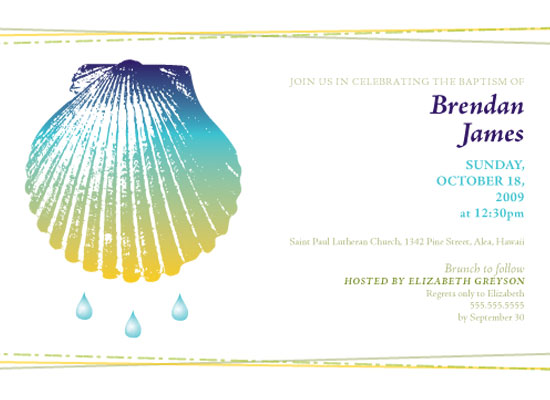 invitations - Tropical Shell by Brittany Barton