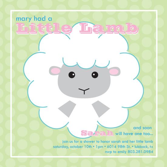 invitations - Little Lamb by Holly  LeRoy