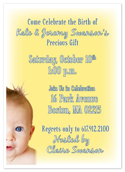 invitations - Baby Face Announcement by Andrew Wiedenhofer
