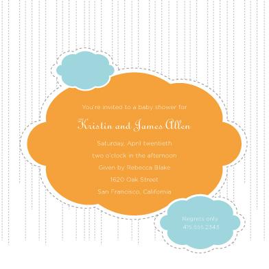 invitations - raining babies by chica design
