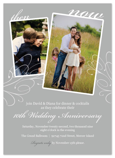 party invitations - Then & Now by Lauren Campbell