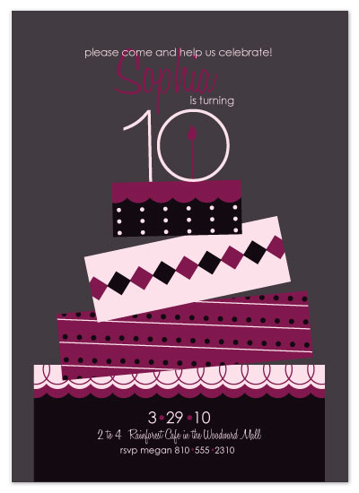 party invitations - Modern Cake by Christy White