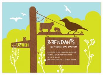 Barnyard Sign Party