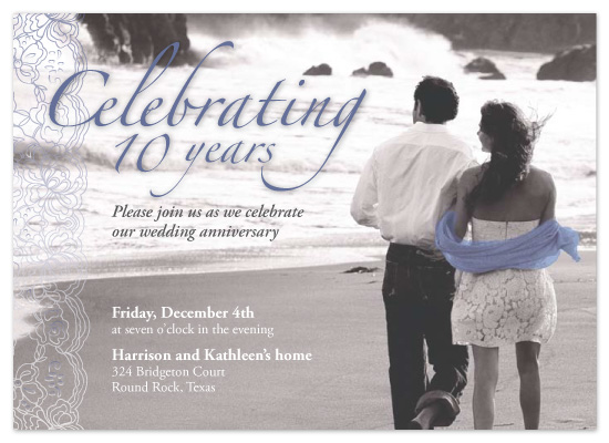 party invitations - Kathleen & Harrison's 10th Anniversary by Jason Rae