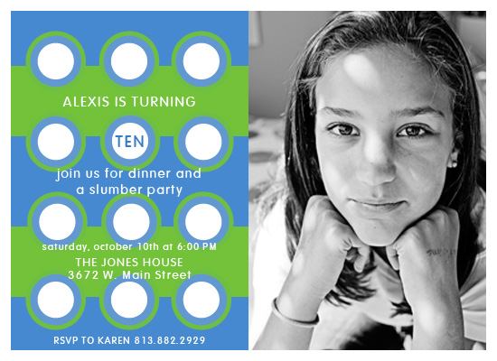 party invitations - Water Lime by Maxeli Designs