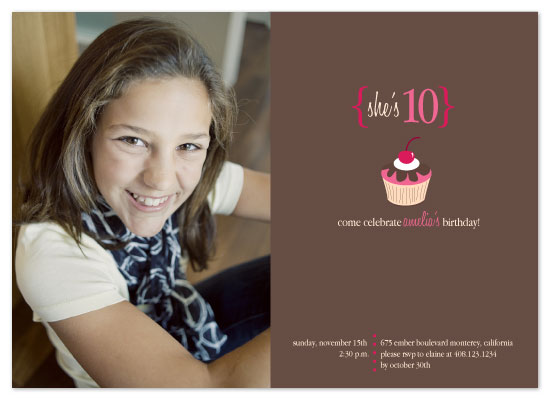 party invitations - Sweet Cupcake by Christy White