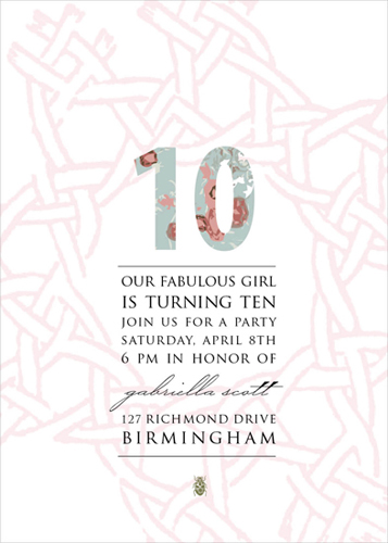 party invitations - Our Fabulous Girl is Turning 10 by Laurel-Dawn Latshaw