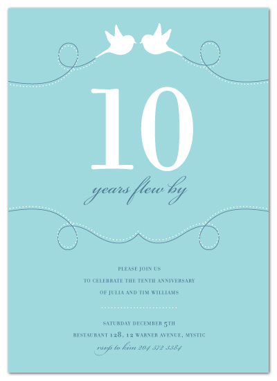 party invitations - time flies by sweet tree studio