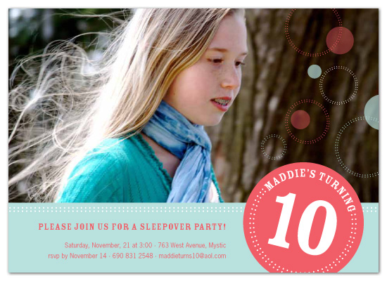 party invitations - round we go by sweet tree studio