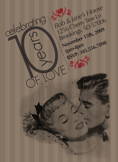 party invitations - Vintage Love by Ashley Hay