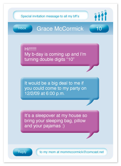 Party Invitations Text Message At Minted Com
