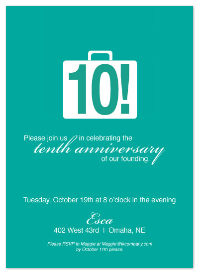 party invitations - Breif Case by Lauren Campbell