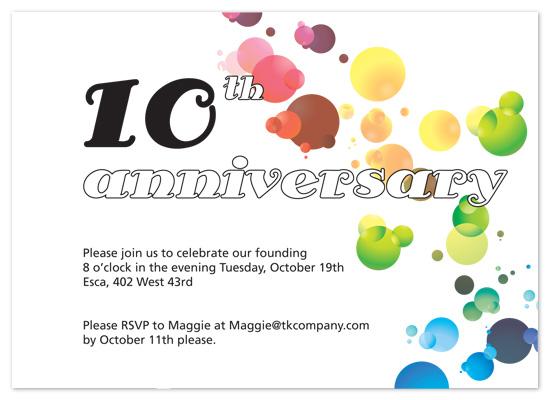 party invitations - Bubbly anniversary by Natti