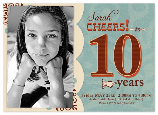 party invitations - 10 Year Cheer by Peek Designs