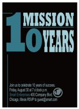 One Mission Ten Years by Christy Vance