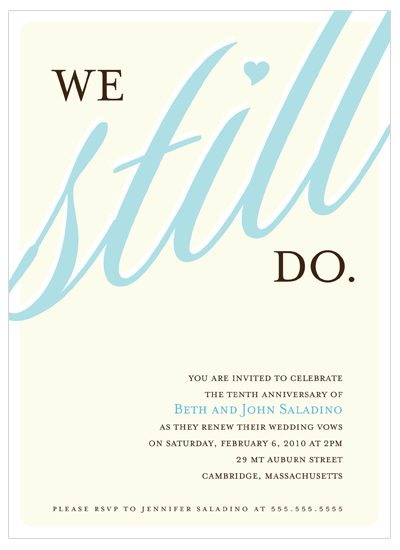 party invitations - We Still Do by Letter19Design