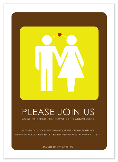 party invitations - Toilet Signs In Love by Sheila Sunaryo