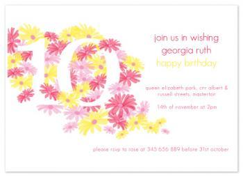 sunshine daisy invitation