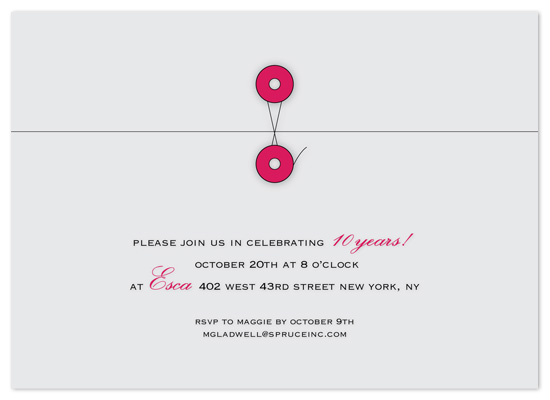 party invitations - closure envelope by fourpaper