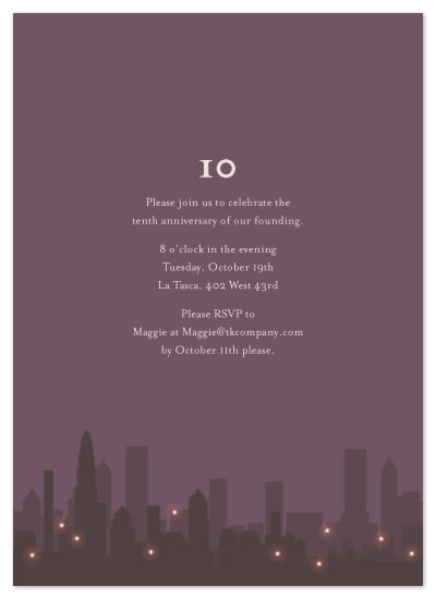 party invitations - Skyline Shine by Neha Banati