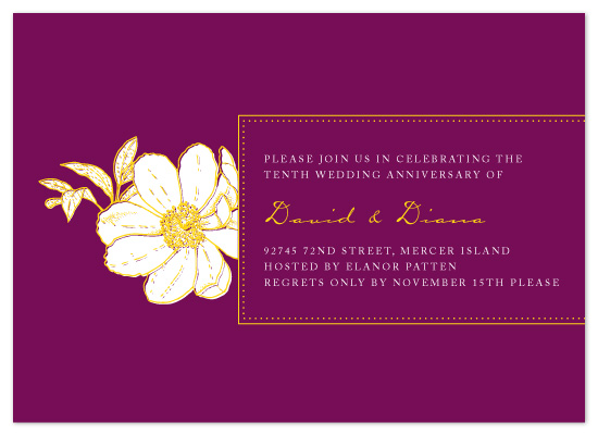 party invitations - Floral Anniversary by Paperview Designs