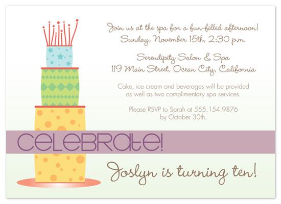 party invitations - Celebrate Cake by Amanda Heineman