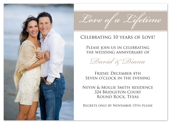 party invitations - Love Of A Lifetime by Amanda Heineman