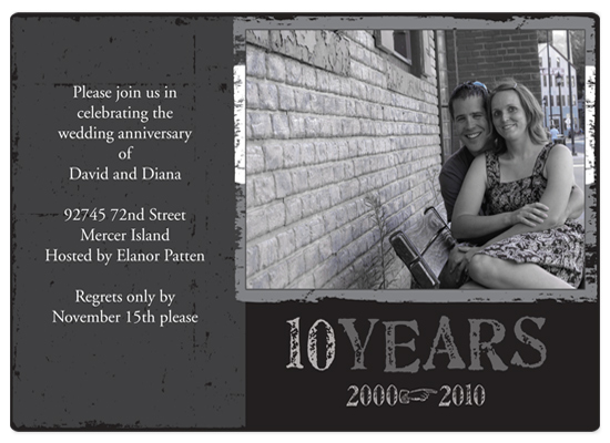 party invitations - Grunge Anniversary by Aimee Libby: Libby Design