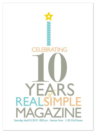 party invitations - Typography Cake by Karen Glenn