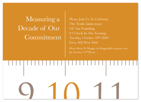 party invitations - Measuring Tape by Sheila Sunaryo