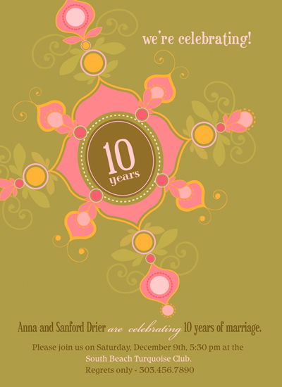 party invitations - Henna Inspired Invitation by Liz