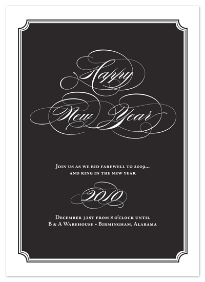 party invitations - Ring in the New Year by Jessica Johnson