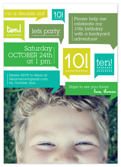 party invitations - Thoughts on Birthday by Moglea