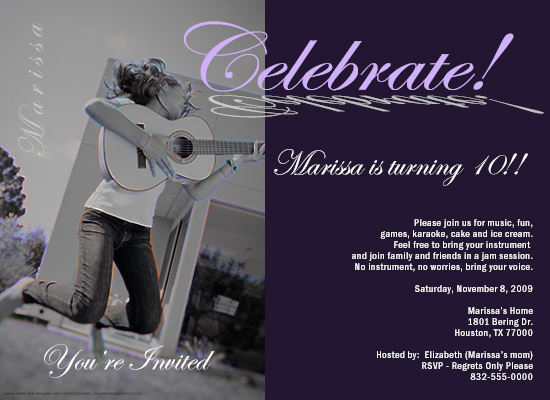 party invitations - Musical Birthday Celebration by Michellustrations