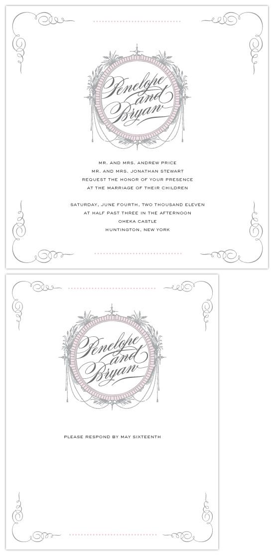 wedding invitations - Chateau by Maddy