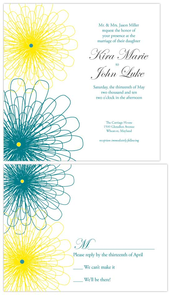 wedding invitations - Flowers of Time by Christy White