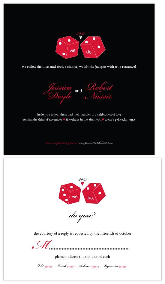 wedding invitations - Vegas Wedding by Christy White