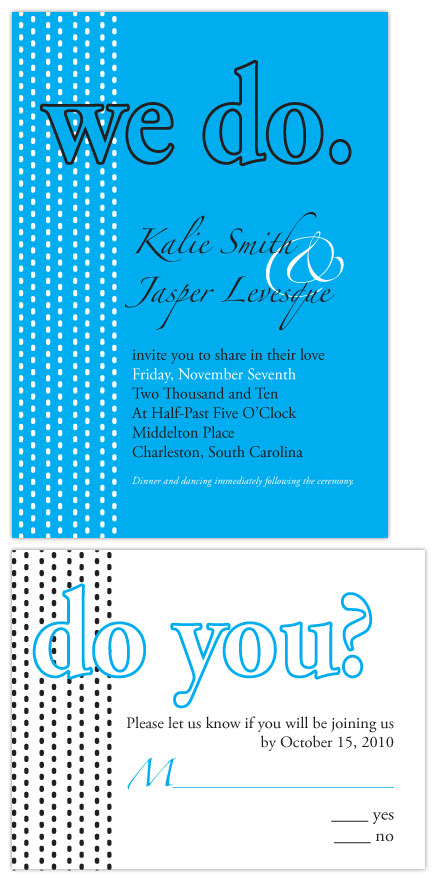 wedding invitations - We Do. Do You? by Lauren Campbell
