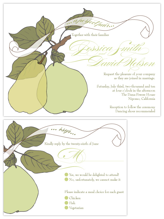 wedding invitations - The Perfect Pair by Kayla King