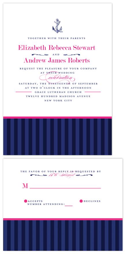 wedding invitations - Nautical Stripes by Spinsugar