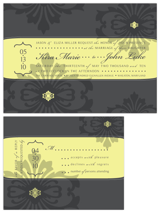 wedding invitations - Floral Elegance by Christy White