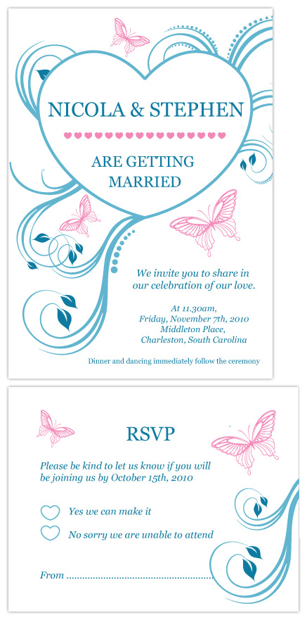 wedding invitations - A floral heart by Natti