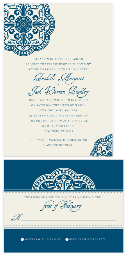 wedding invitations - Ornamental by Paperview Designs