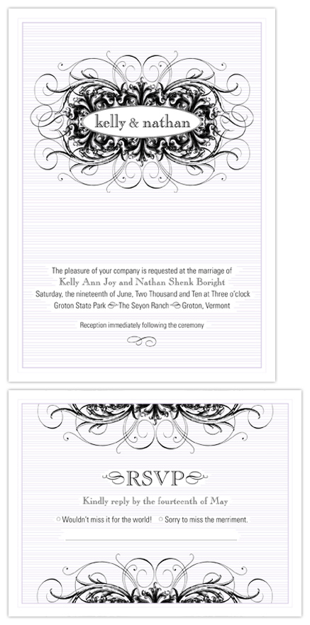 wedding invitations - Baroque Modern by nichole tremblay