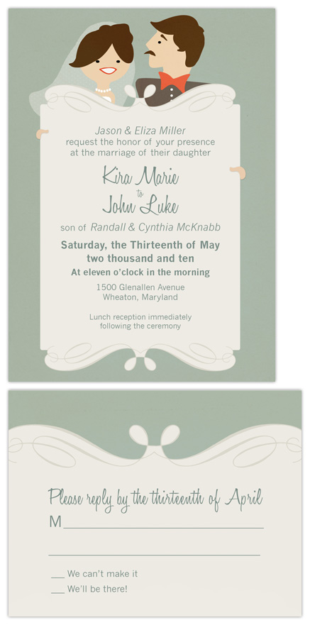 wedding invitations - Goin' to the Chapel by Peek Designs