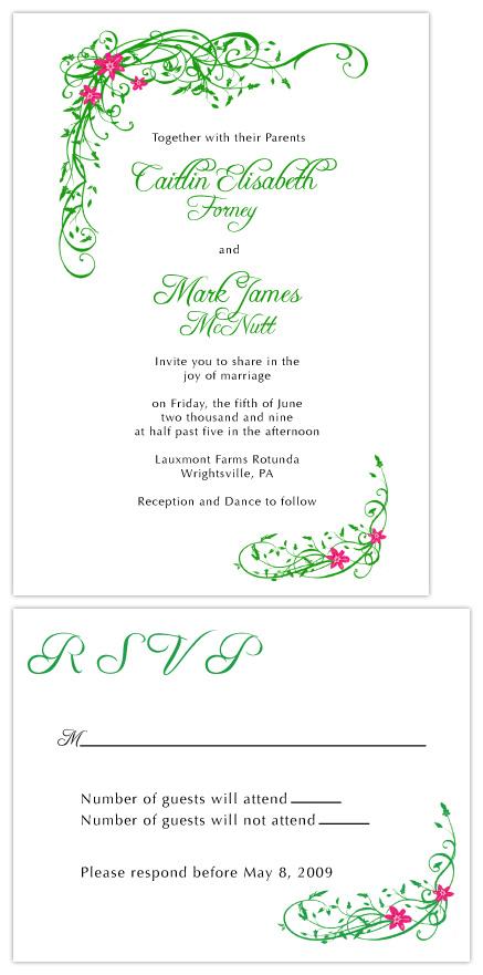 wedding invitations - Garden Escape by MFDesigns